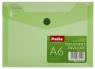 Koperta na dokumenty A6 transparentna - zielona (PAT6133A/N/15)