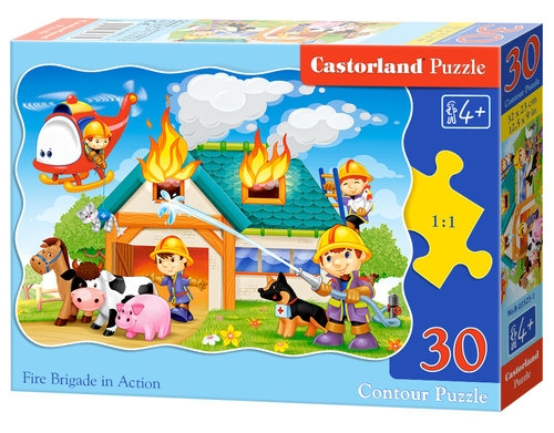 Puzzle konturowe 30: Fire Brigade in Action