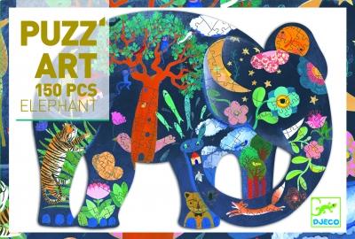Puzzle artystyczne SŁOŃ 150 el. (DJ07652 N)