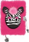 Pamiętnik z kłódką włochacz Zebra A5, 96 kartek, linia