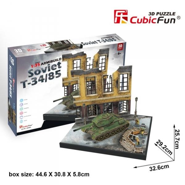Puzzle 3D Soviet T-34/85 213 elementów (JS4202h)