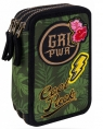 Coolpack - Jumper 3 - Piórnik potrójny z wyposażeniem - Green (Badges G)