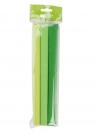 Bibuła marszczona Happy Color, 25x200 cm, zielony jasny mix, 3 szt. (2510-3GR)
