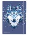 Notatnik A4/2x40K kratka+linia My.Book Flex Wolf