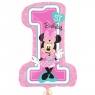 Balon foliowy Cyfra Minnie 1 urodziny (3435201)