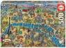 Puzzle 500: Mapa Paryża (18452) od 10 lat