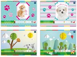 Zeszyt papierów kolorowych A4 10 kartek