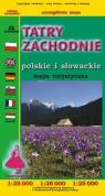 Tatry Zachodnie Polskie i Słowackie mapa turystyczna 1;25 000 Siwicki Michał