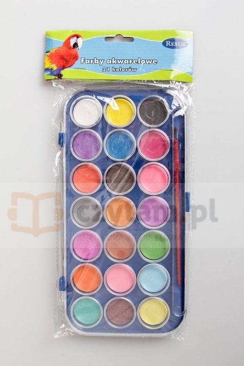 Farbki akwarelowe 21 kolorów