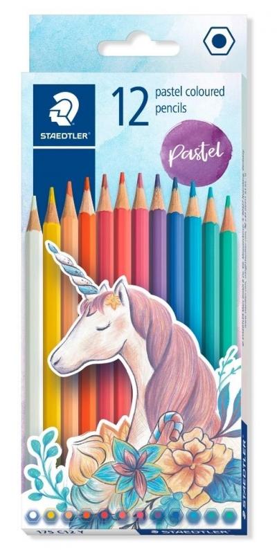 Kredki sześciokątne Pastel 12 kolorów STAEDTLER