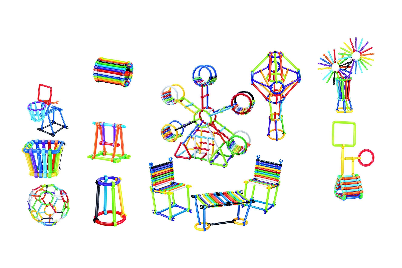 Klocki patyczki w pudełku, 360 elementów (109527)