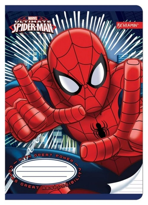 Zeszyt A5 w linie 32 kartki Spiderman