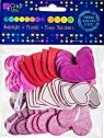 Naklejki z pianki serca print i brokat 50szt