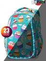Coolpack - Strike S - Plecak szkolny  - Led Cupcakes (A18203)