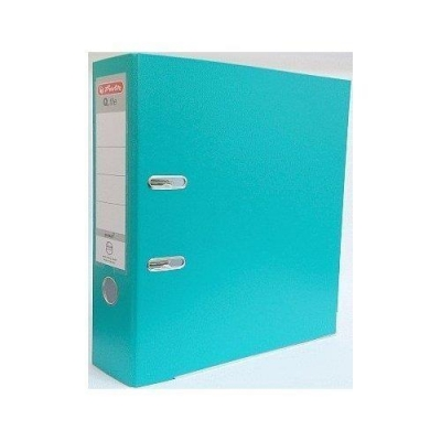 Segregator A4 5cm PP turkusowy Q file (OUTLET - USZKODZENIE)