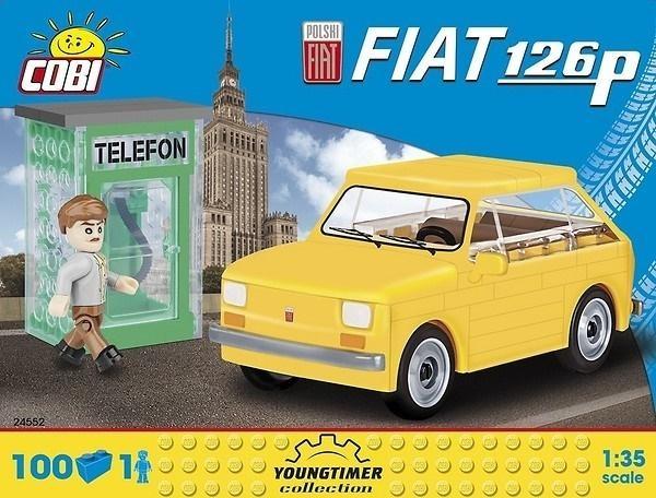 Cobi: Cars. Polski Fiat 126P + figurka 100 elementów (24552)