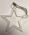 Zawieszka świąteczna drewniana biała gwiazda 21cm