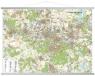 Okręg Katowicki mapa ścienna XXL