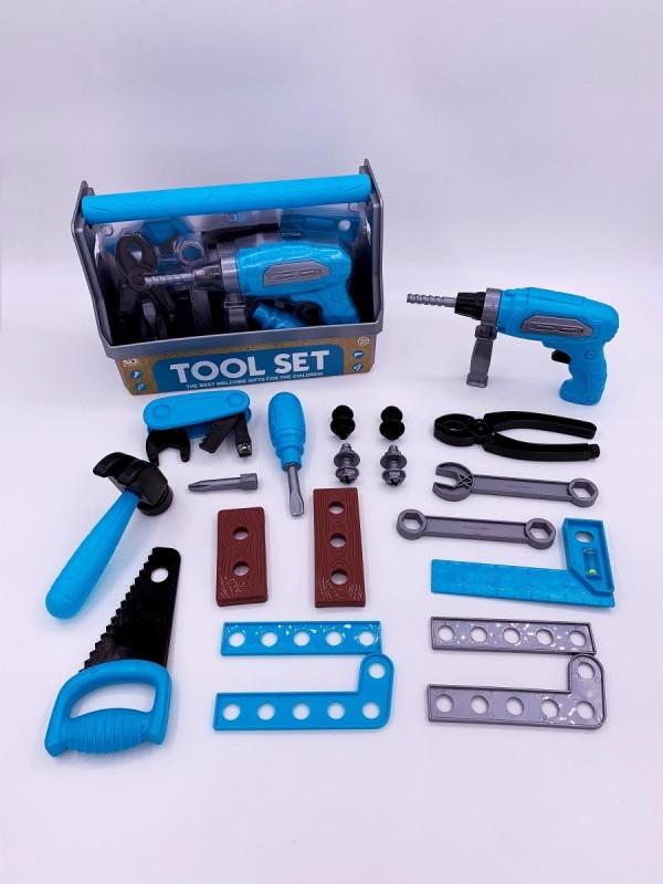 Zestaw narzędzi z wkrętarką (6652-1)