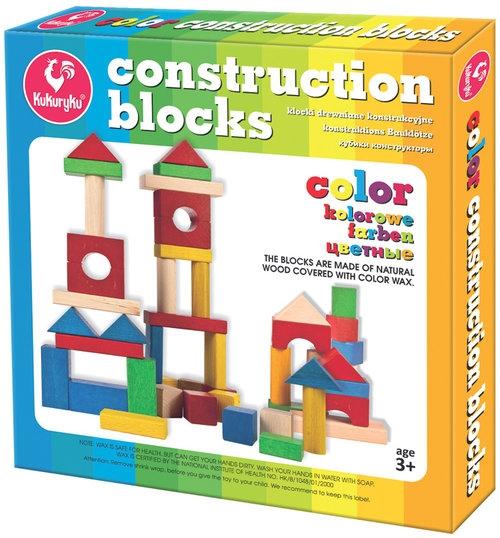 Klocki konstrukcyjne kolorowe