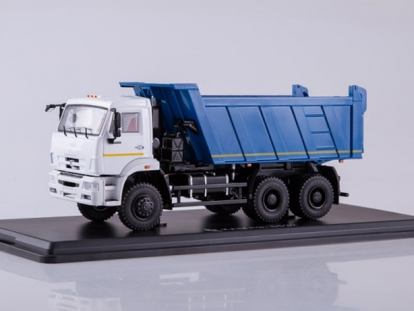 KAMAZ-6522 6x6 Dump Truck (facelift) (white/blue) (SSM1252)