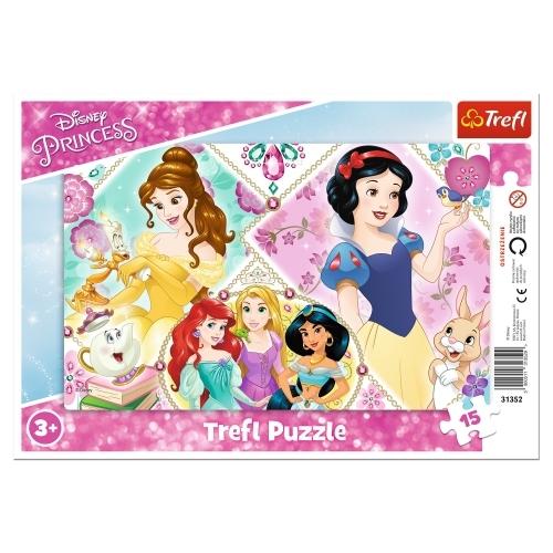 Puzzle ramkowe 15: Urocze księżniczki