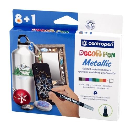 Centropen: zestaw markerów do dekorowania Decor Pen Metallic 2737