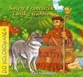 Święty Franciszek i wilk z Gubbio - kolorowanka Stadtmuller Ewa
