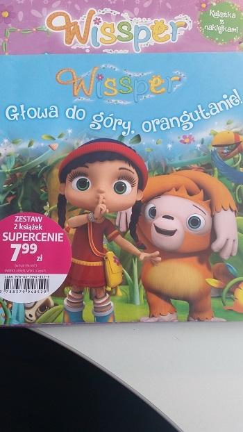 WISSPER Activity z naklejkami + STORY Głowa do góry orangutanie ! opracowanie zbiorowe