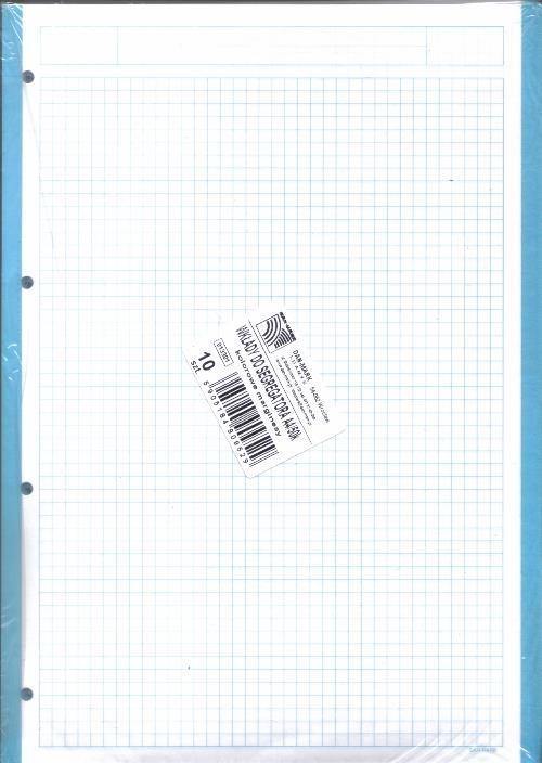 Wkłady do segregatora A4/50K kol. marginesy 10 szt
