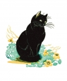 Karnet 17x14cm z kopertą Lucky Cat