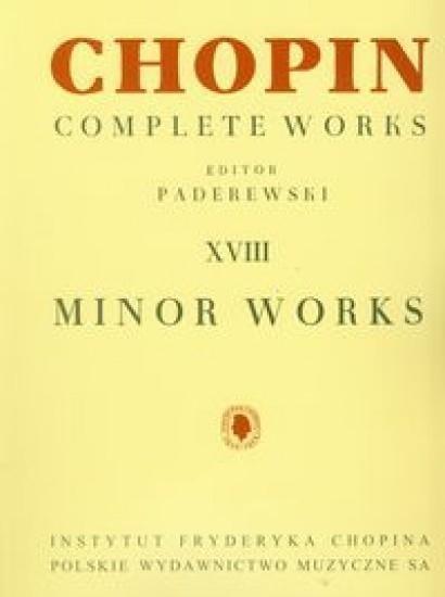 Chopin Complete Works XVIII Drobne utwory