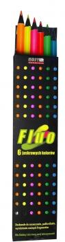 Kredki Fluo 6 kolorów