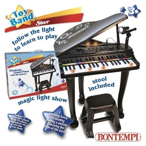 Fortepian elektroniczny z mikrofonem oraz stołkiem (4000)