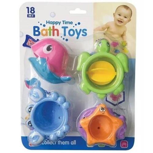 Zabawka do wody delfinek + 3 foremki morskie