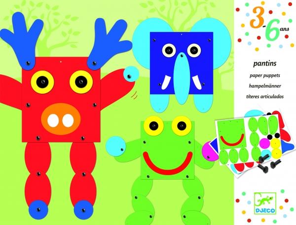 Zestaw papierowy stwórz postać. Zwierzęta (DJ09653)