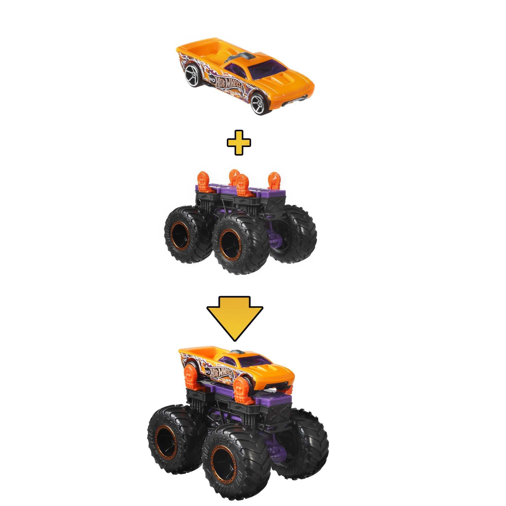 Hot Wheels Monster Trucks: Pojazd Monster Maker - Fioletowy (GWW13/GWW16)