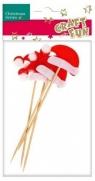 Ozdoba dekoracyjna patyk czapka Mikołaja