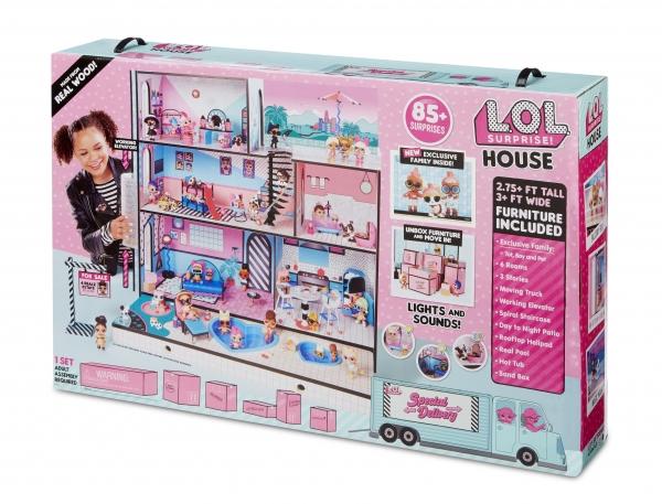 L.O.L. Surprise: Duży drewniany domek niespodzianka (560531)
