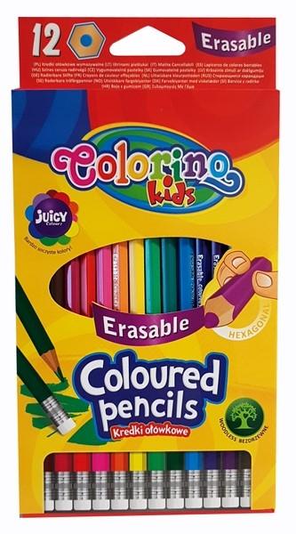 Colorino - Kredki ołówkowe wymazywalne 12 kolorów (92531PTR)