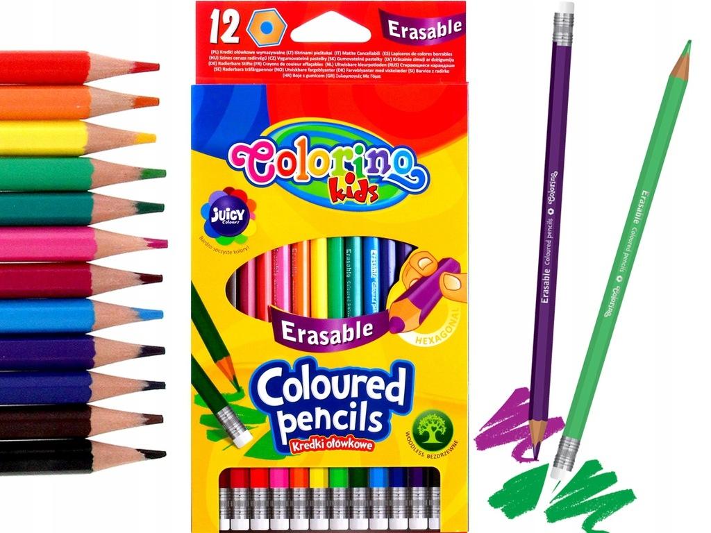 Kredki ołówkowe wymazywalne Colorino Kids 12 kolorów (92531PTR)