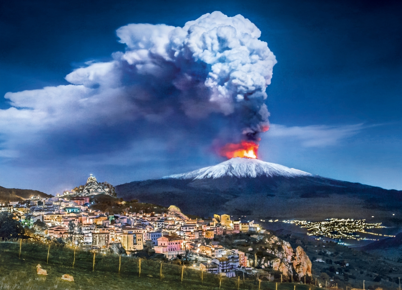 Puzzle High Quality Collection 1000: Wulkan Etna (39453)