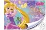 Blok rysunkowy A4 Księżniczki 20 kartek z pierwszą stroną do kolorowania