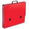 Teczka szkolna A3 czerwona pastelowa  TT7186