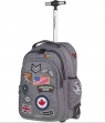 Coolpack - Junior - Plecak na kółkach - Badges Grey (89531CP)