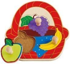 Puzzle - koszyk piknikowych owoców  (E1306)