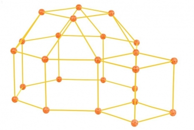 Zwariowany namiot żółto-pomarańczowy