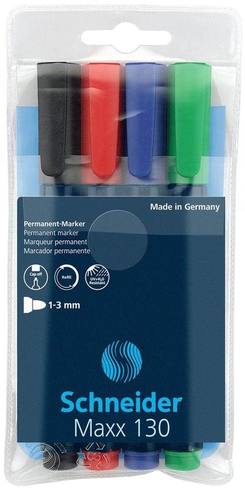 Zestaw markerów uniwersalnych Schneider Maxx 130 4 kolory (SR113094)