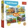 Puzzle 4w1: Duże maszyny budowlane (34353)
