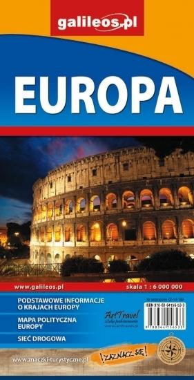 Europa - mapa administracyjno-drogowa 1:6 000 000 praca zbiorowa